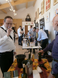 The tasting at Domaine de Toasc