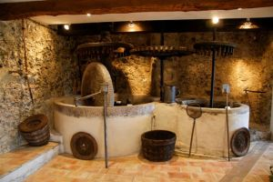 Olive oil mill at St Blaise