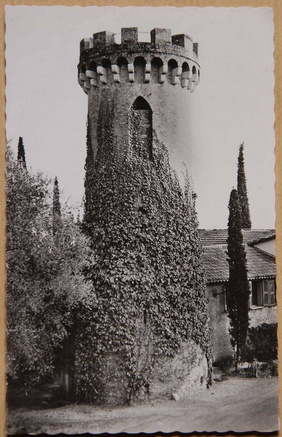 Pld photograph of the tower on the Chemin de la Tour de Bellet