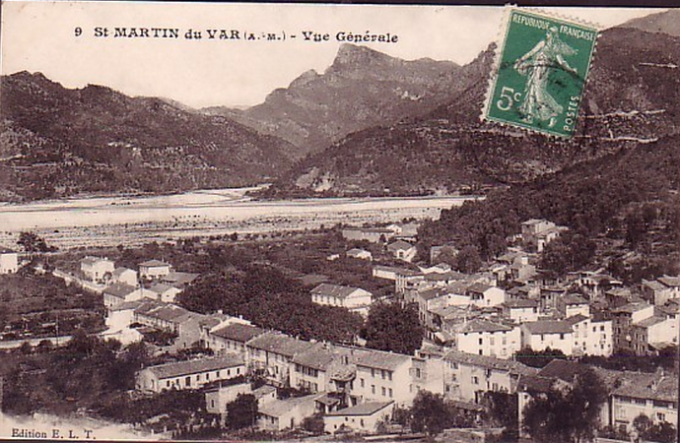view of village to river circa 1900
