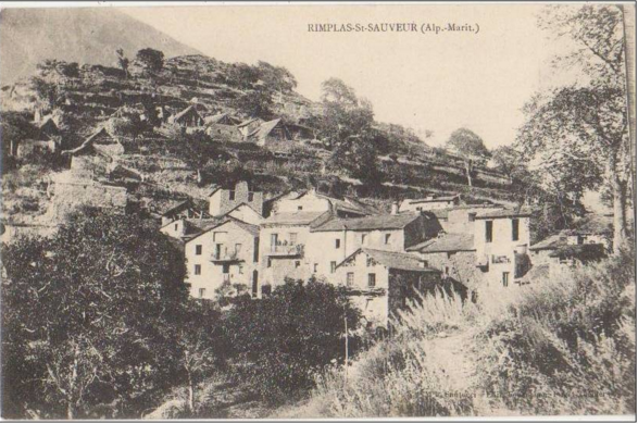 Rimplas in 1906 with south facing terraces